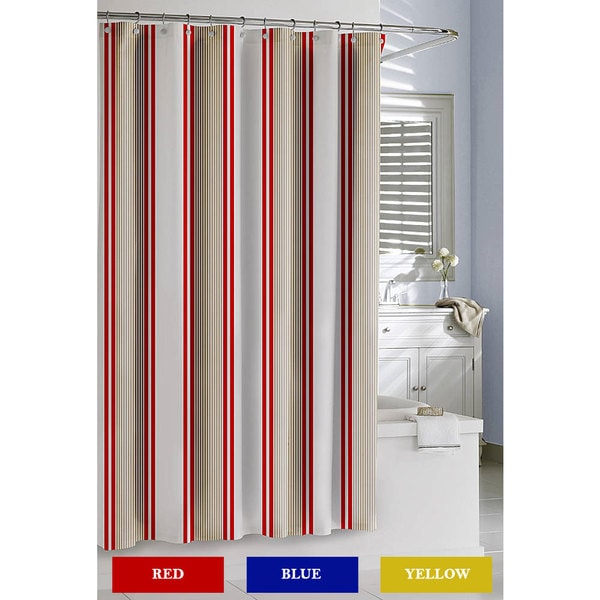 Catalina Cotton Stripe Shower Curtain