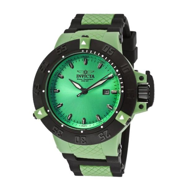 Invicta Men's 'Subaqua/Noma III' Black Silicone Watch