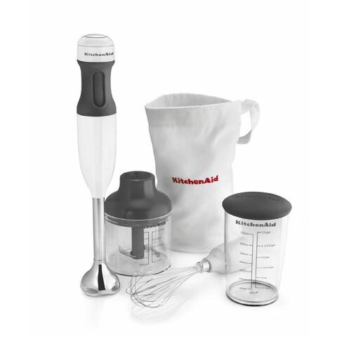 KitchenAid KHB2351WH White 3-Speed Hand Blender