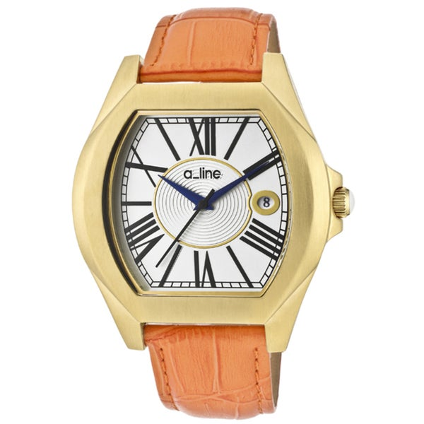 A Line Women's 'Adore' Orange Genuine Leather Watch