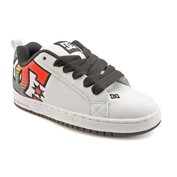 DC Boy's 'Court Graffik SE' Leather Athletic Shoe