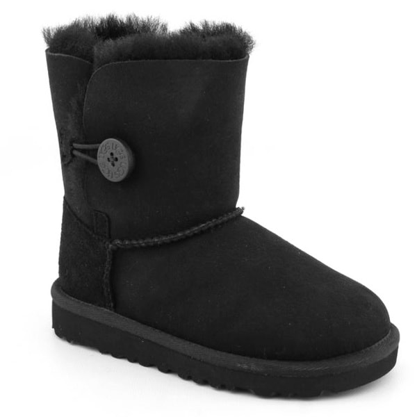 Ugg Australia Toddler 'Bailey Button' Regular Suede Boots