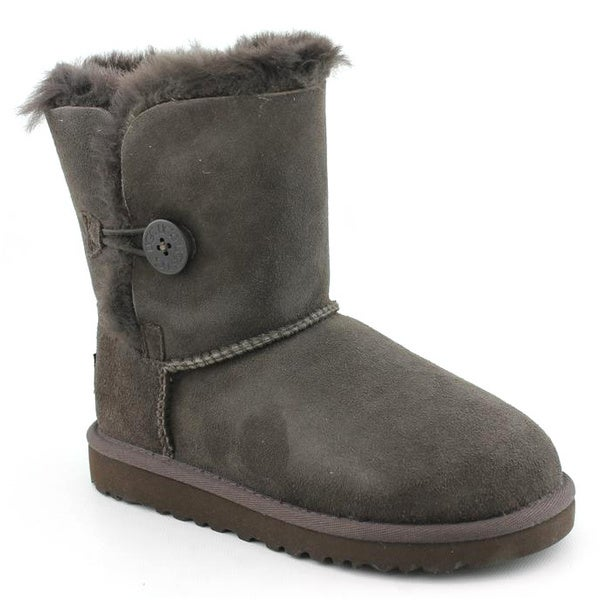 Ugg Australia Brown Girl's 'Bailey Button' Regular Suede Boots
