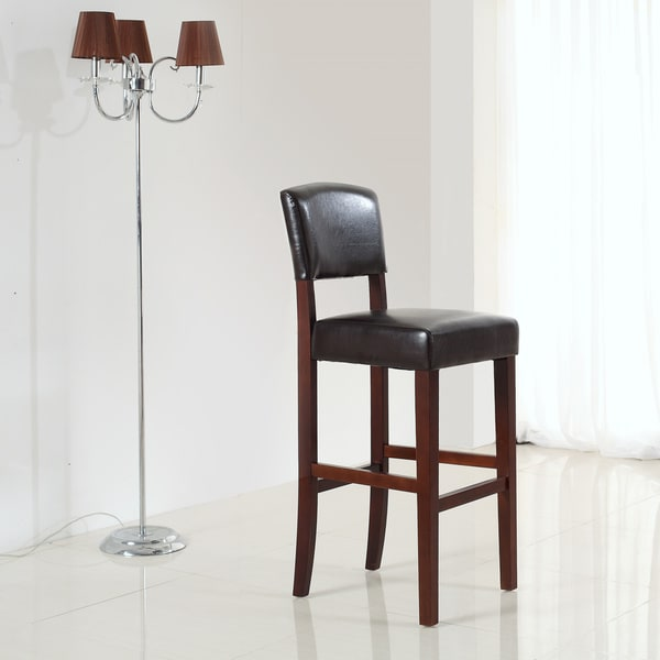 WYNDENHALL Franklin Dark Brown Counter/ Bar Stool (Set of 2)