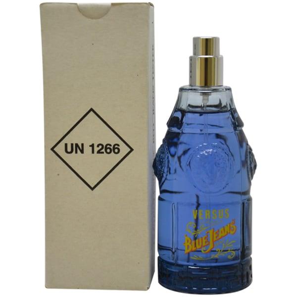 Versace 'Blue Jeans' Men's 2.5-ounce Eau de Toilette Spray (Tester)