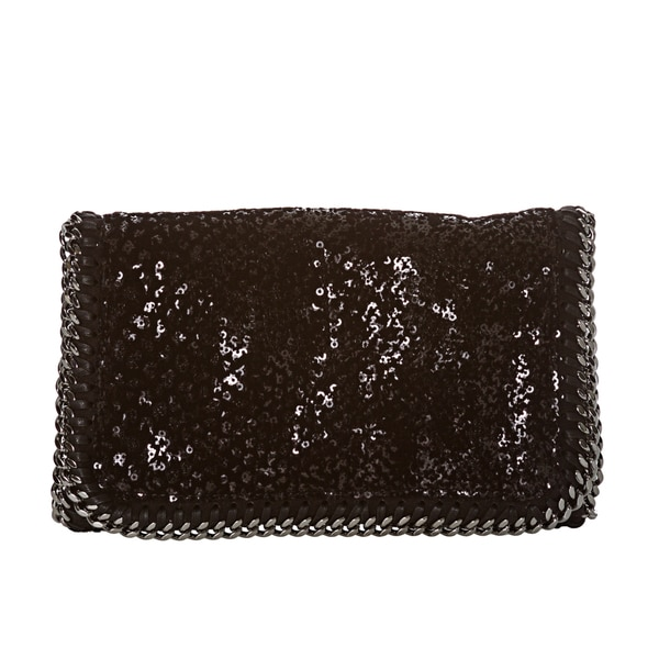 Stella McCartney 'Falabella' Velvet and Sequin Shaggy Clutch