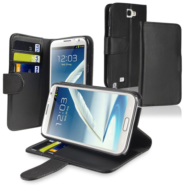 INSTEN Leather Phone Case Cover with Card Holder for Samsung Galaxy Note II N7100