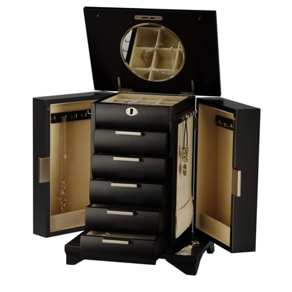 Seya Contemporary Espresso Wood Jewelry Box