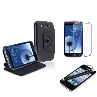 INSTEN Leather Phone Case Cover/ Protector/ Stylus for Samsung Galaxy S III/ S3