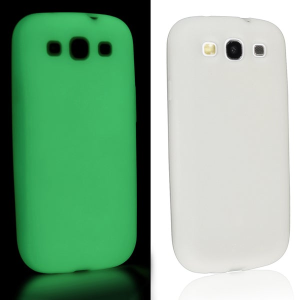 BasAcc White Luminous Skin Case for Samsung Galaxy S III/ S3