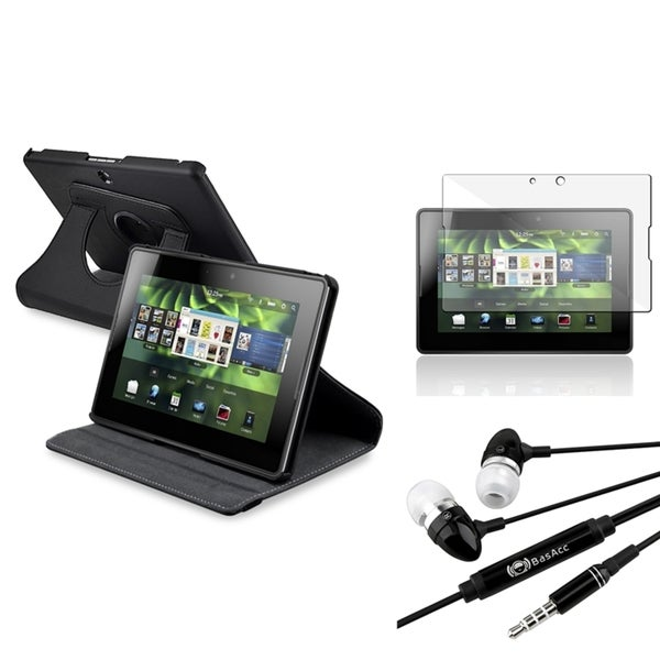 INSTEN Leather Case Cover/ Protector/ Headset for BlackBerry PlayBook