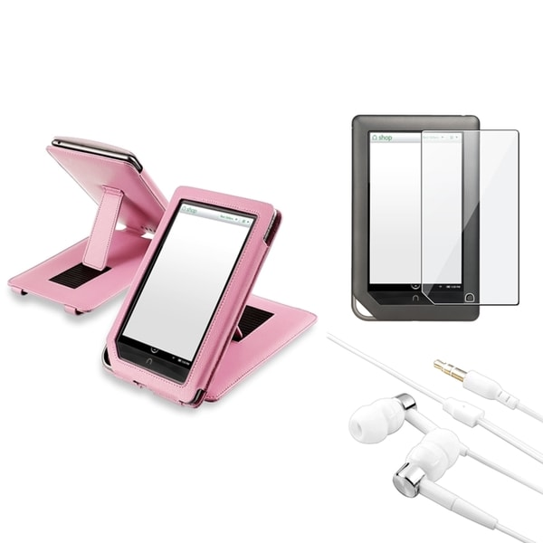 INSTEN Leather Phone Case Cover/ Protector/ Headset for Barnes & Noble Nook Tablet