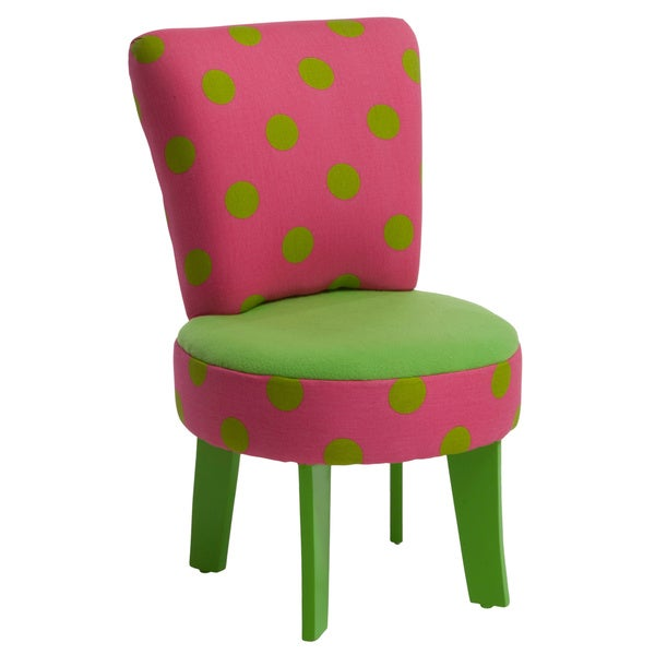 Elizabeth Kids' Green/ Pink Chair by Christopher Knight Home