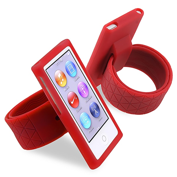 BasAcc Red Silicone Watchband for Apple® iPod nano Generation 7