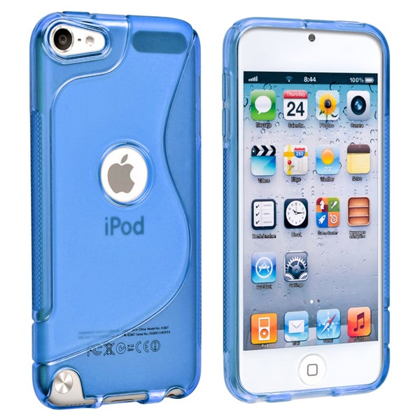 BasAcc Blue Anti-Scratch TPU Rubber Skin Case for Apple iPod Touch Generation 5