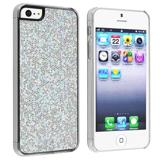 INSTEN Silver Bling Snap-on Phone Case Cover for Apple iPhone 5/ 5S