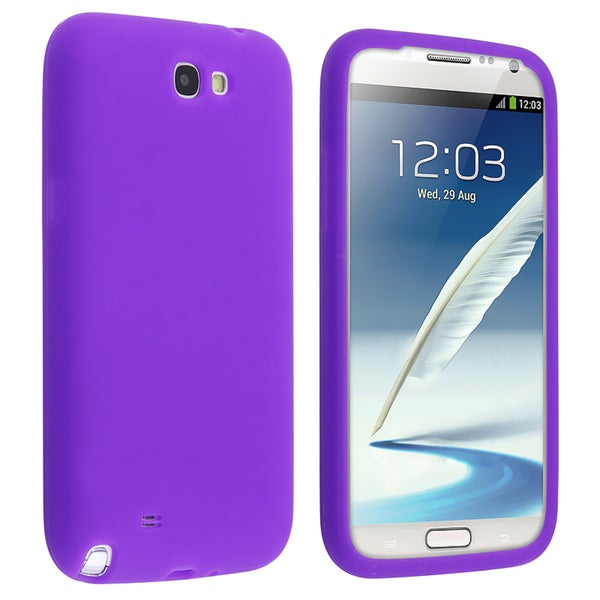 BasAcc Purple Silicone Skin Case for Samsung Galaxy Note 2 N7100