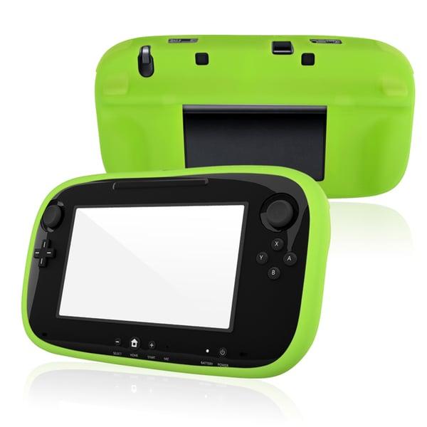 BasAcc Green Silicone Skin Case for Nintendo Wii U
