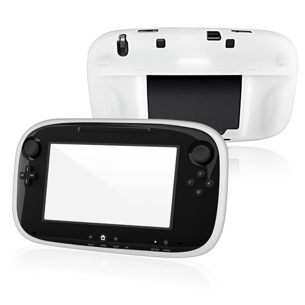 BasAcc White Silicone Skin Case for Nintendo Wii U