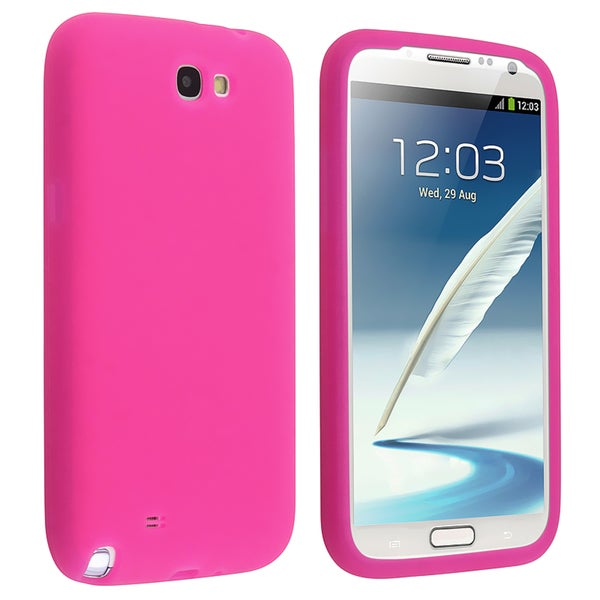 BasAcc Hot Pink Silicone Skin Case for Samsung© Galaxy Note 2 N7100