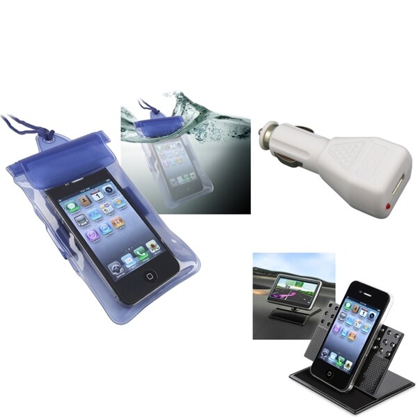 INSTEN Phone Case Cover/ Charger/ Holder for Motorola Droid 3 XT862/ Droid Bionic