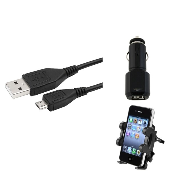 INSTEN Phone Holder/ Car Charger/ Cable/ Samsung Galaxy S III/ S3