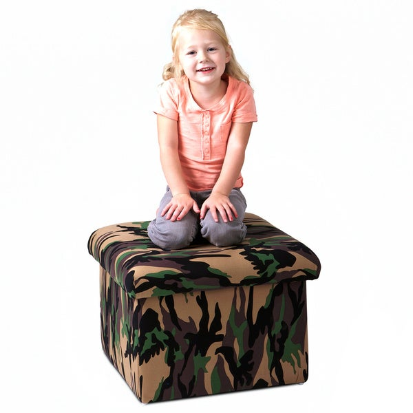 Sidney Kids' Camoflage Storage Ottoman by Christopher Knight Home