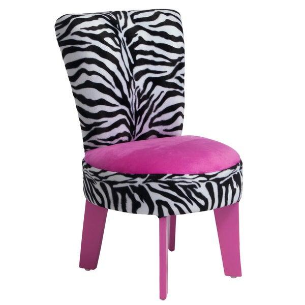 Elizabeth Kids' Zebra/ Pink Chair by Christopher Knight Home
