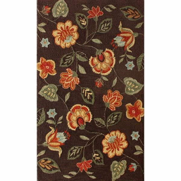 nuLOOM Handmade Floral Brown Rug (5' x 8')