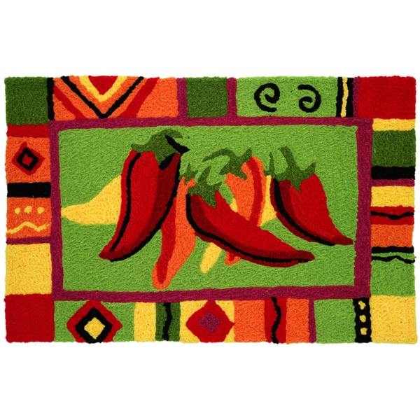 Kitchen Curtains chili pepper kitchen curtains : Red Hot Chili Peppers Red Indoor/ Outdoor Rug (1'9 x 2'9) - Free ...