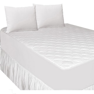 Damask Stripe Cotton Filled Mattress Pad