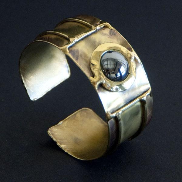 Handmade Shine On Hematite Cuff (South Africa)