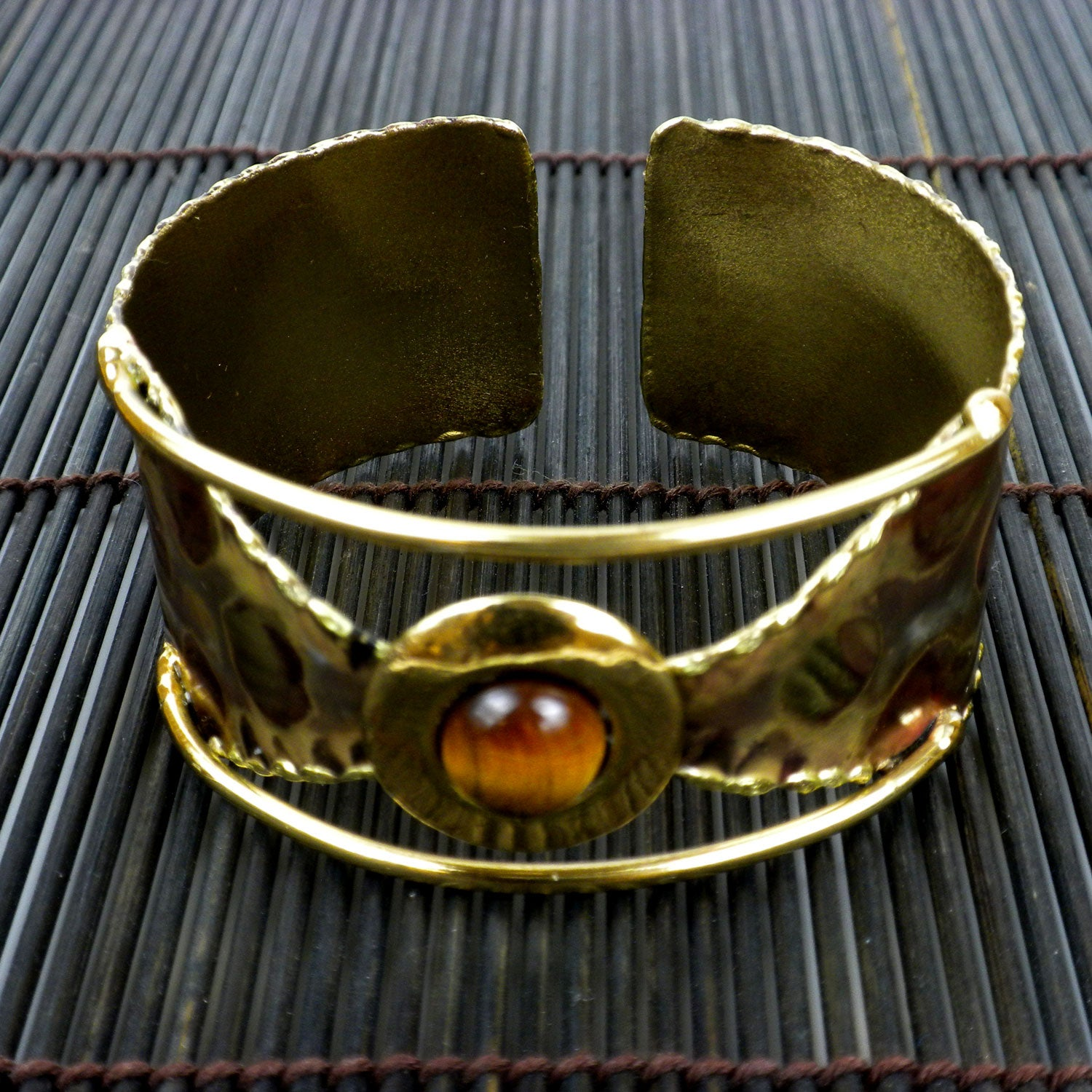 Global Crafts Tigers Eye Leopard Cuff (South Africa) (Leo...