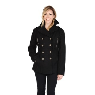 Link to Excelled Women's Wool Blend Double Breasted Peacoat with Waist Tab Detail Similar Items in Women's Outerwear