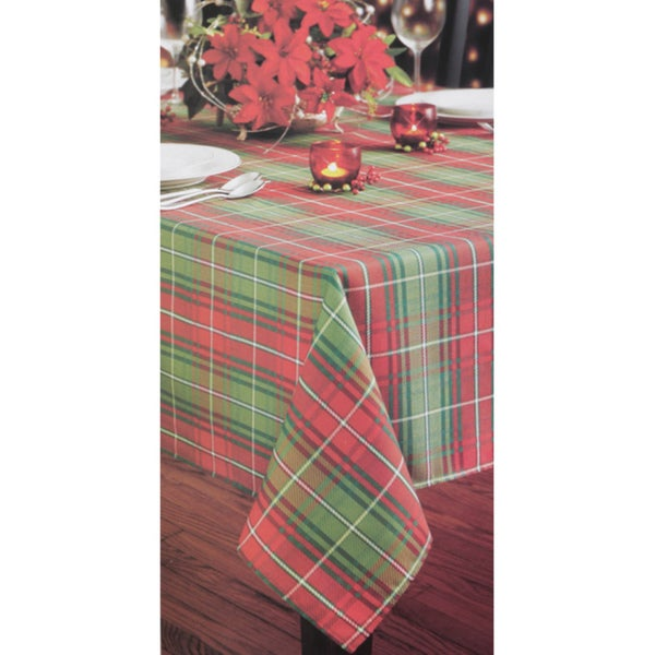 Christmas Plaid Printed Tablecloth
