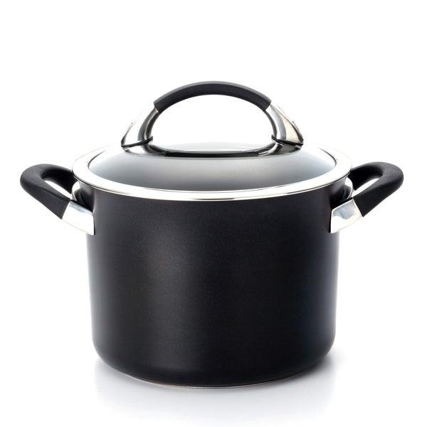 Circulon Black 4-quart Covered Saucepot
