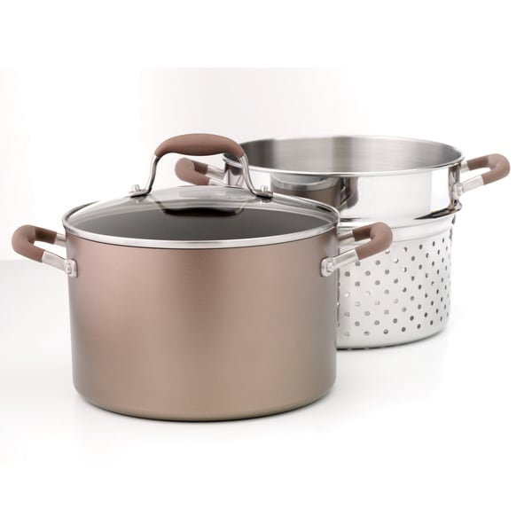 Anolon 7-quart Covered Stockpot and Strainer