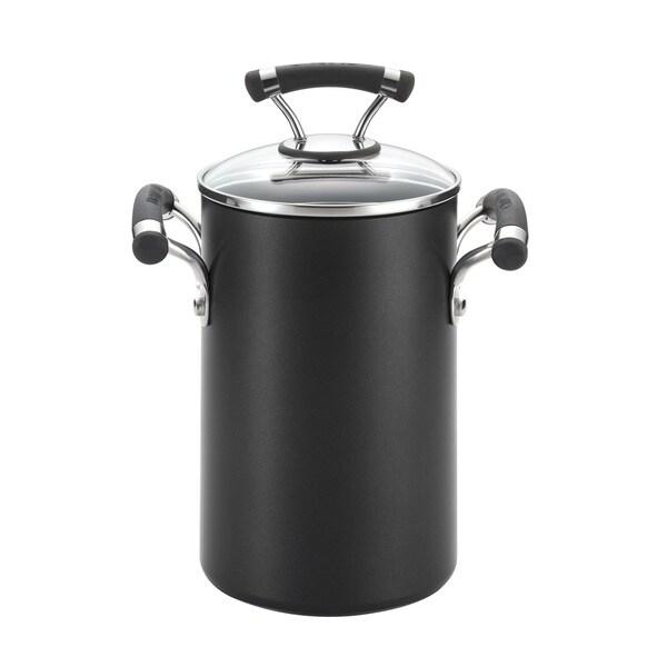 Circulon 3.5-quart Black Pot with Steamer