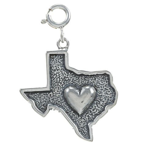 Sterling Silver Heat of Texas Charm