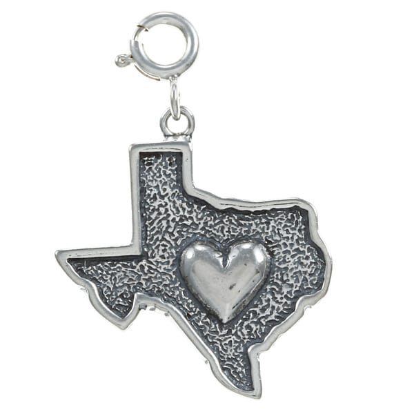 Sterling Silver Heat of Texas Charm. Opens flyout.