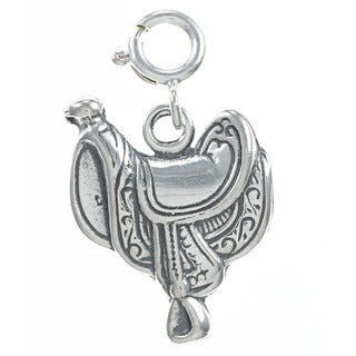 Sterling Silver Horse Saddle Charm