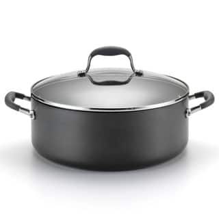 Anolon Advanced Hard-anodized Nonstick 7 1/2-quart Grey Covered Wide Stockpot|https://ak1.ostkcdn.com/images/products/7468251/7468251/Anolon-7.5-quart-Covered-Stockpot-P14916127.jpg?impolicy=medium