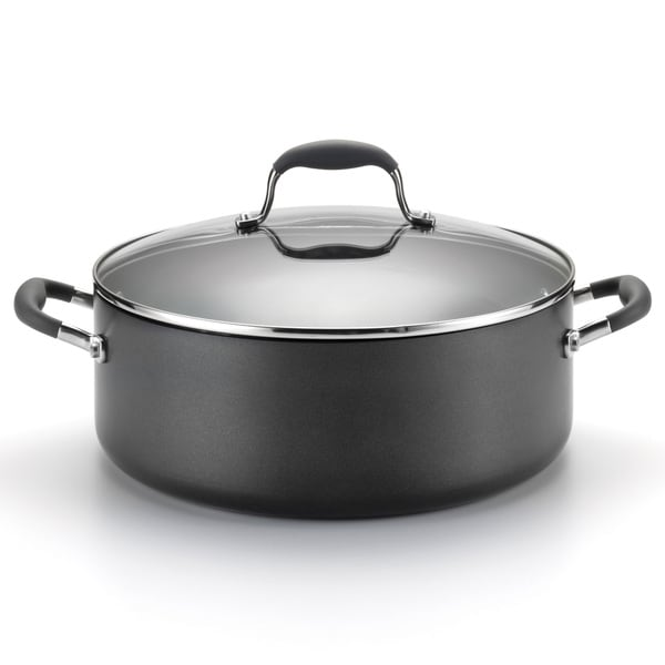 Anolon Advanced Hard-anodized Nonstick 7 1/2-quart Grey Covered Wide Stockpot