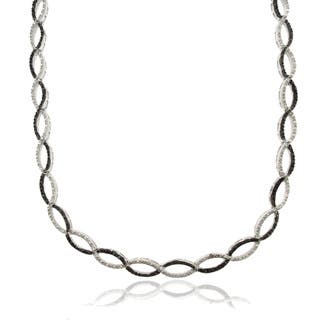 Finesque Silver Overlay 1/4ct TDW Black Diamond Infinity Necklace|https://ak1.ostkcdn.com/images/products/7468266/P14916141.jpg?impolicy=medium