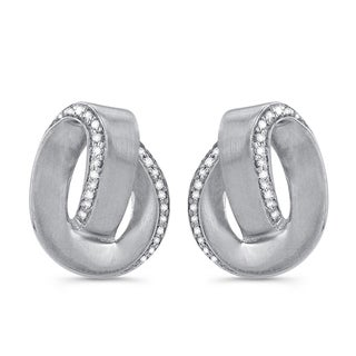 Victoria Kay Sterling Silver 1/6ct TDW Diamond Swirl Earrings (J-K, I2-I3)
