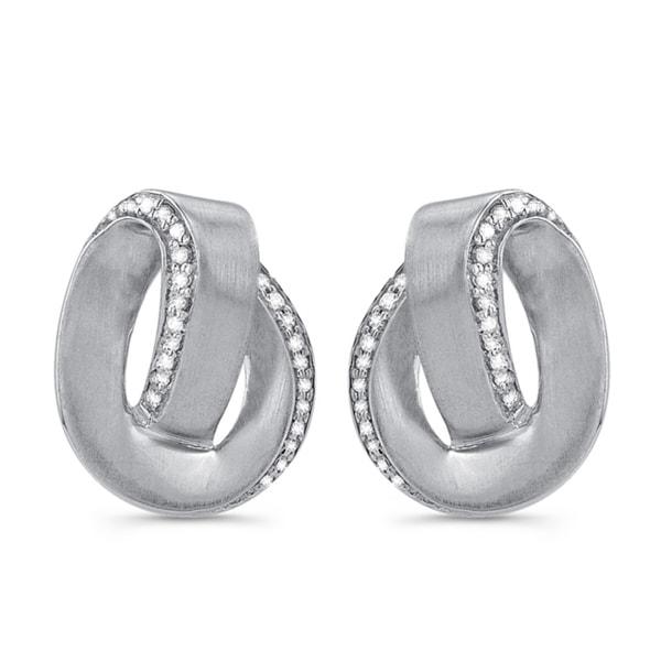 Victoria Kay Sterling Silver 1/6ct TDW Diamond Swirl Earrings (J-K, I2-I3)
