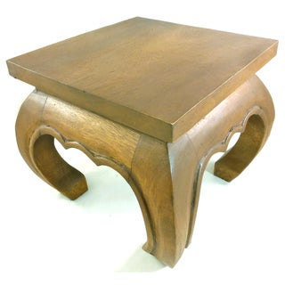 12-inch Saddle Brown Monkey Wood Table (Thailand)