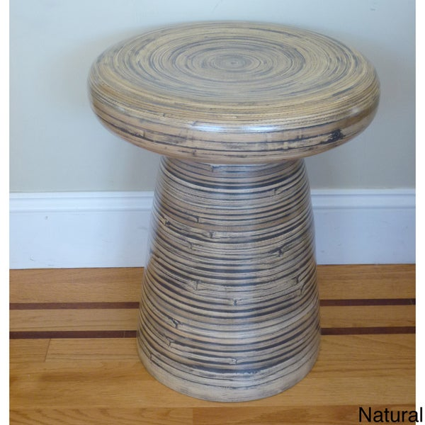 Bamboo Coiled Melange Stool Vietnam Free Shipping