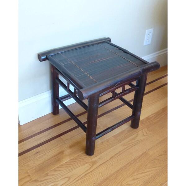 Rustic Bamboo Tea Stool/Accent Table (Vietnam)