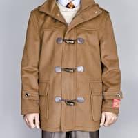 Men's Chesnut Wool/ Cashmere Blend Toggle Coat